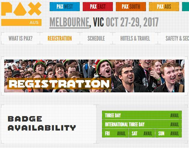 PAX Australia registration open now!