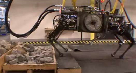 Video: DARPA's AlphaDog Gets Up, Scrambles Over Rocks and Runs