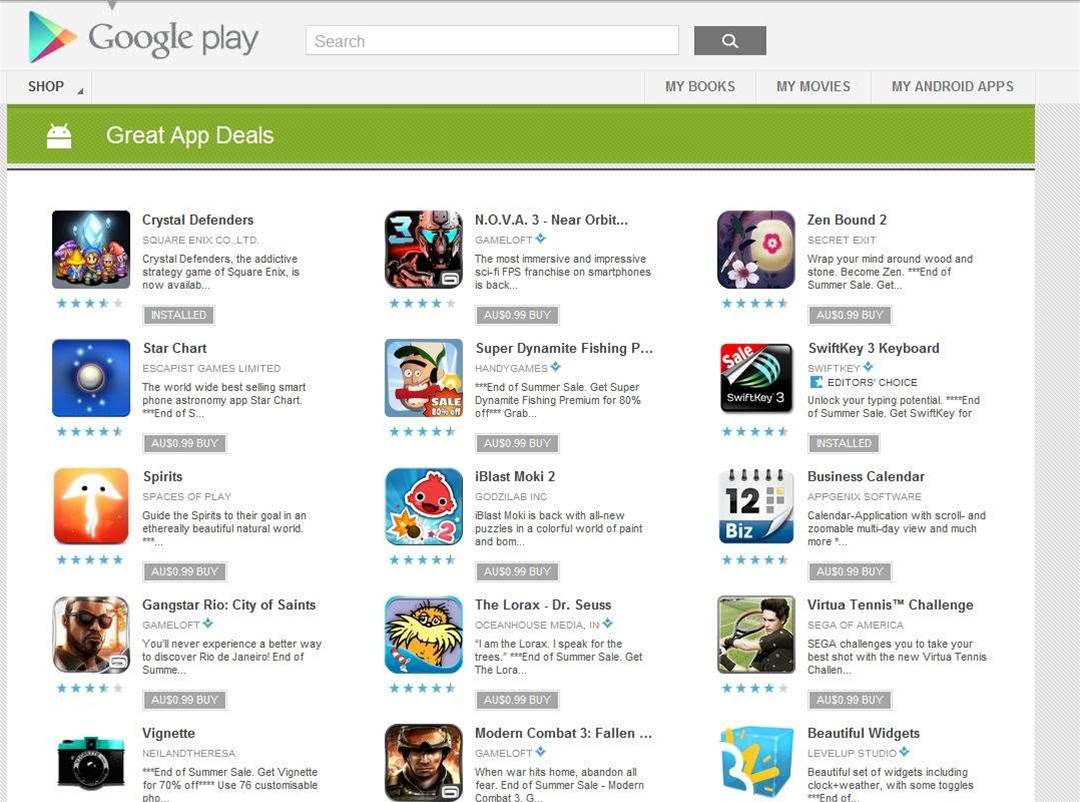 Google Play sale is happening, as long as you can find it.