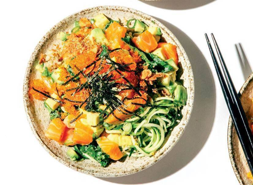 RECIPE: Salmon and avocado poke bowl