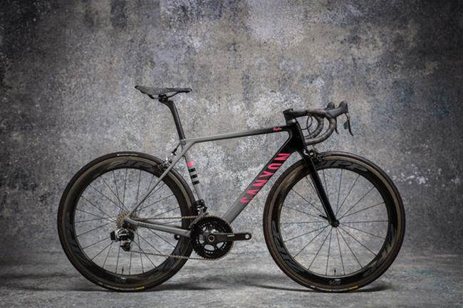Check out the beautiful paint on this limited edition Canyon road bike