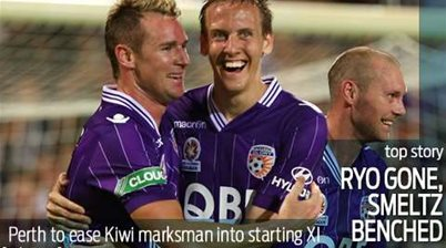 Perth Glory to bench brace hero Smeltz