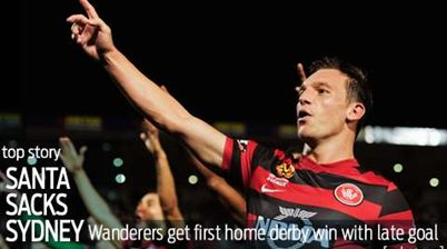 Wanderers claim first home derby win