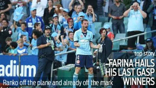Farina would have settled for the draw