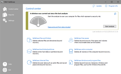 Protect confidential files with SafeErase Professional 11