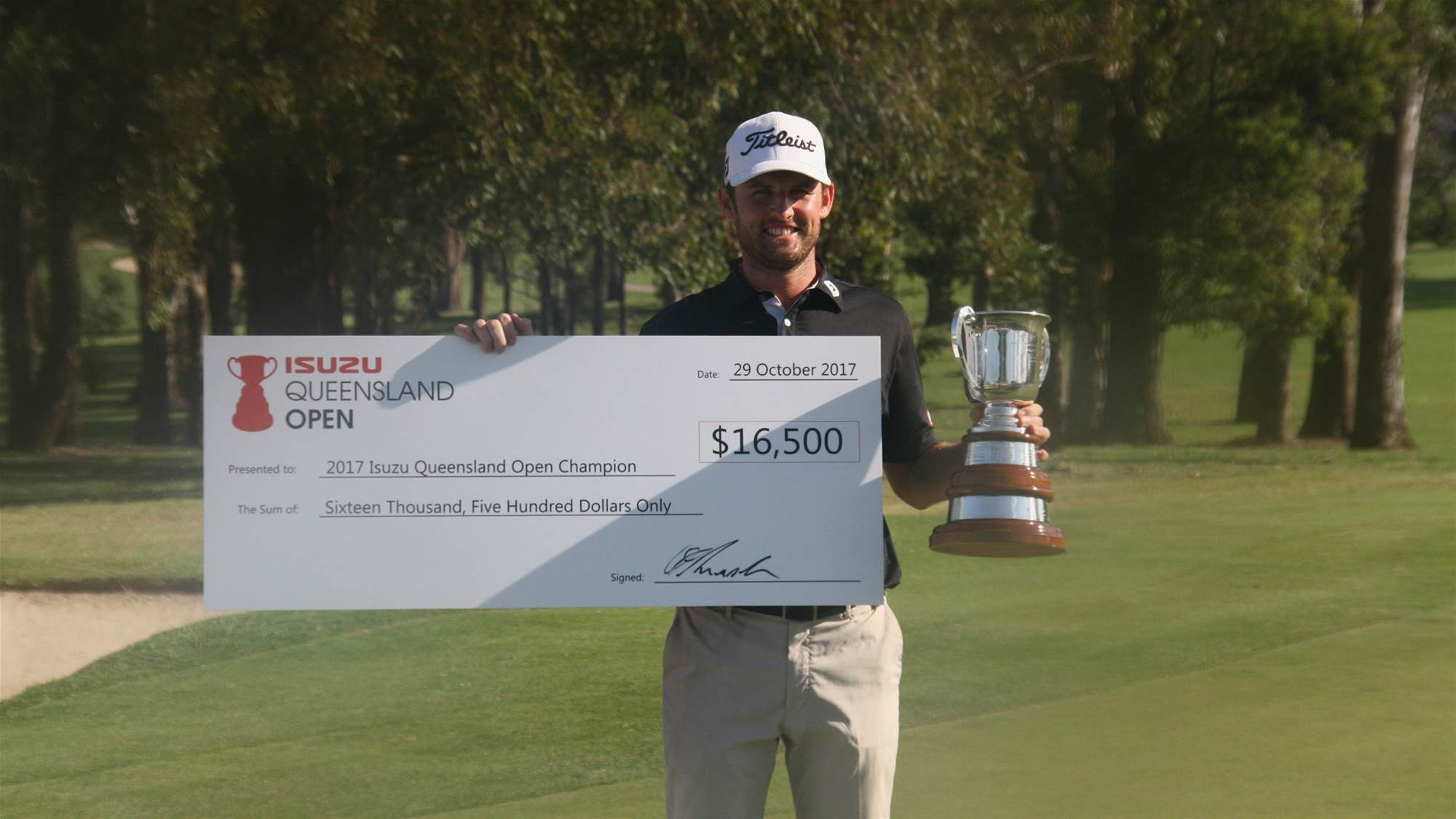 QLD OPEN: Sim secures first Aussie win