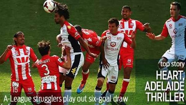 Desperation draw: Heart, Reds six-goal thriller