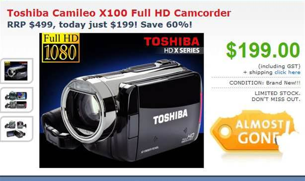 Tech Deals: Get a Full HD Toshiba camcorder for $199