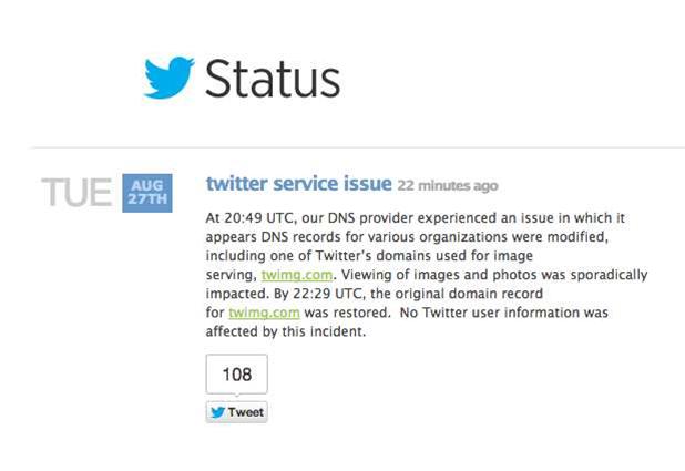 Twitter status blog