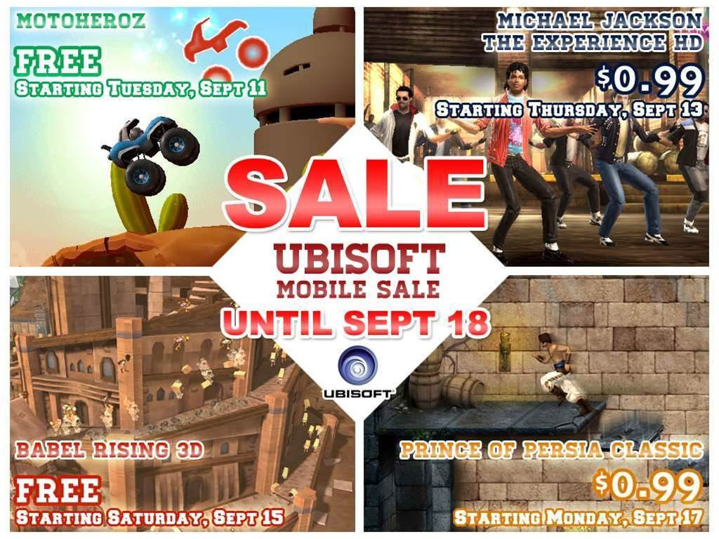 Ubisoft app sale on now