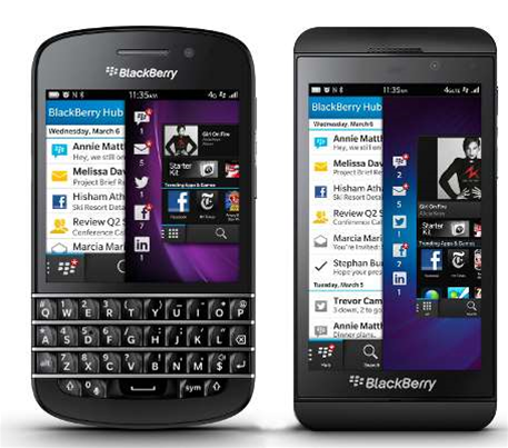 Blackberry Launches BB10 OS, New Z10 & Q10 Smartphones