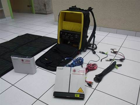 Emergency cell site in backpack launched