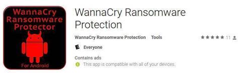Bogus anti-WannaCry apps appear in Google Play