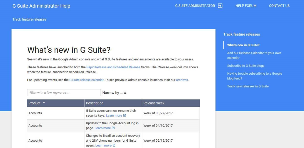 Keep up with G Suite