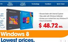 The cheapest we've seen Windows 8 Pro (upgrade)