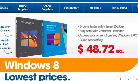 You can get Windows 8 Pro (upgrade) at Officeworks for $48.72