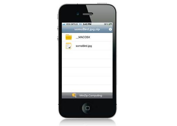 Winzip for iPhone and iPad