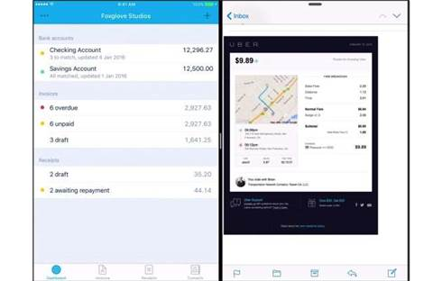Xero taps iOS split-screen to do two things at once