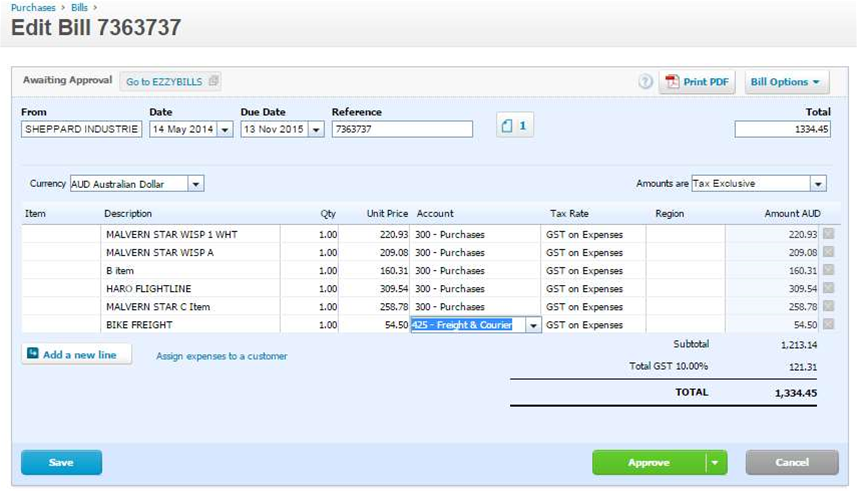 Add-on makes it easy to add bills to Xero or MYOB
