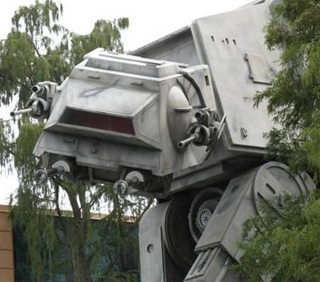 Life-sized AT-AT Star Wars robot to fix America?