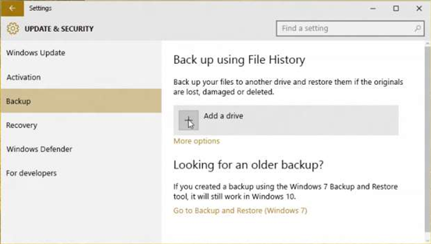 How to: Back up Windows 10