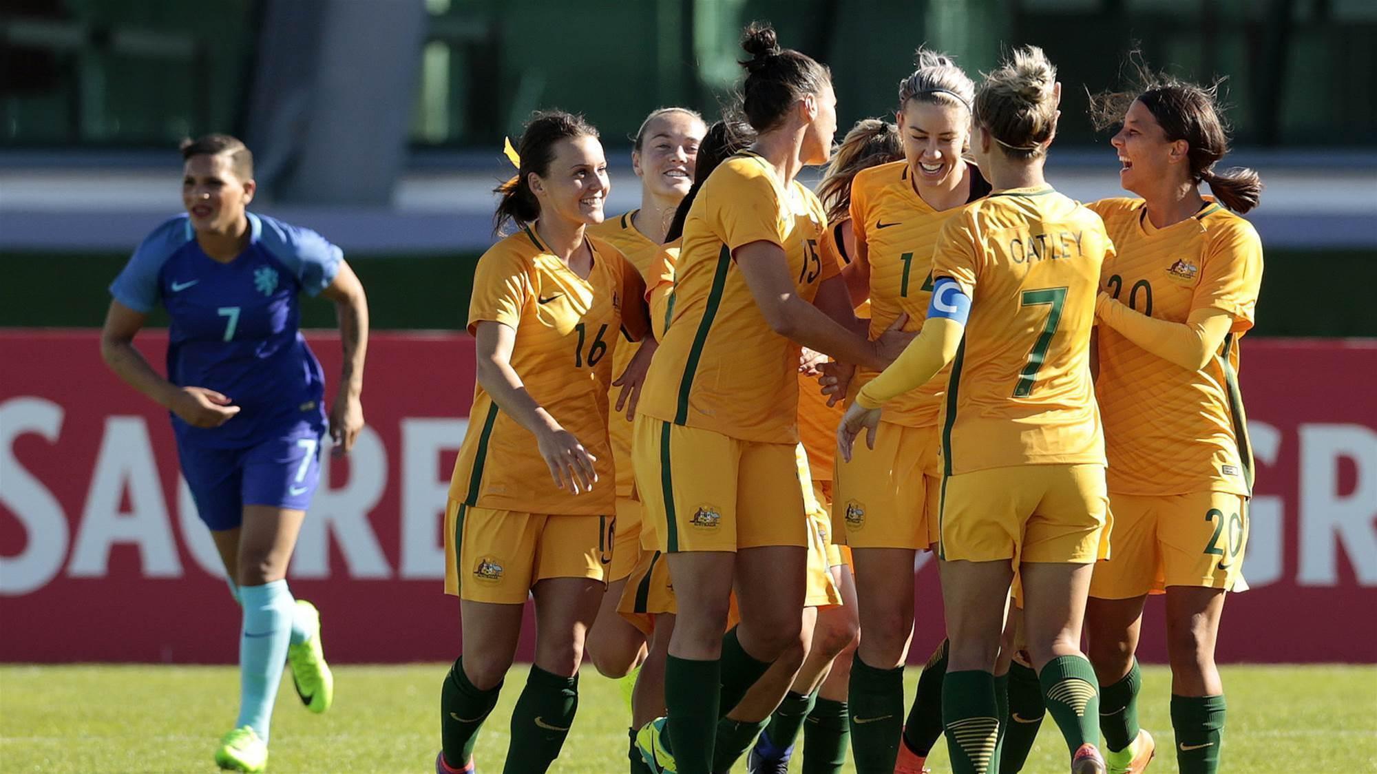Matildas down Dutch in five-goal thriller