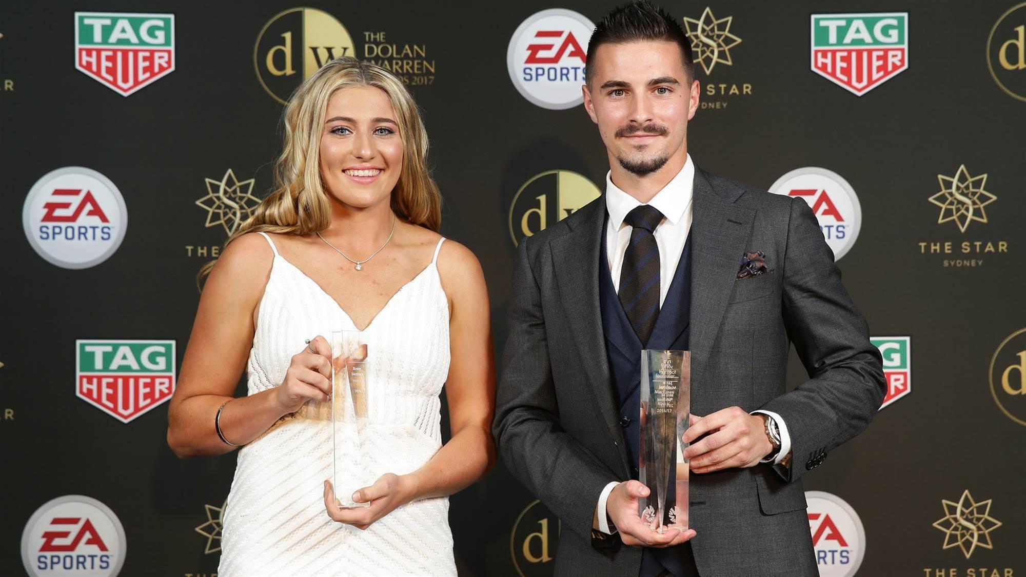 Maclaren, Siemsen named Young Footballers of the Year