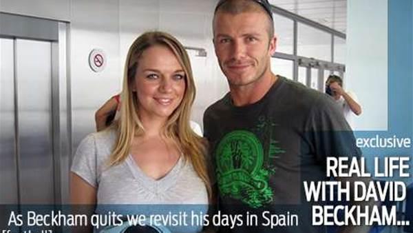 Real life with David Beckham...