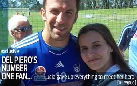 Del Piero's number one fan...