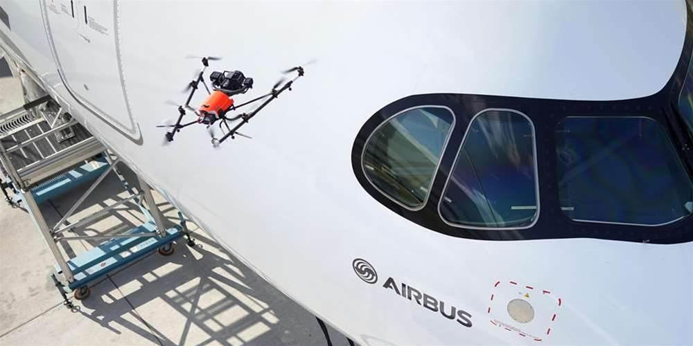 Intel demos drone aircraft inspection