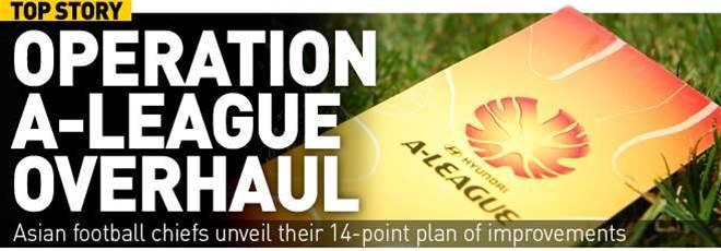 AFC's A-League Overhaul Plan