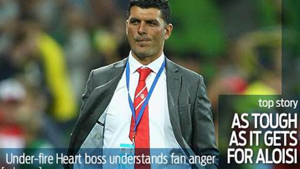 As tough as it comes for Aloisi