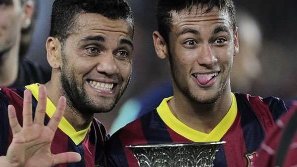 Alves annoints Neymar as Messi's successor