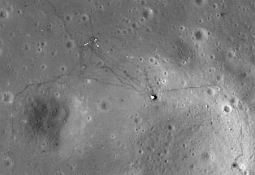 New NASA Photos Show Footprints on the Moon