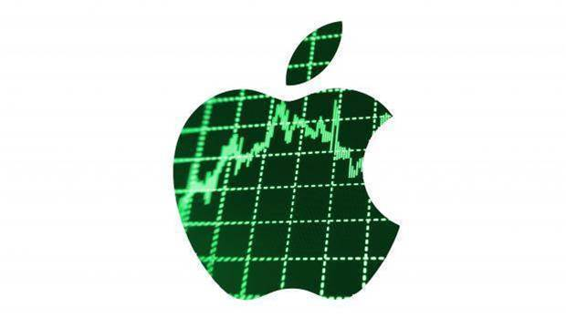 Apple stock price hits record high
