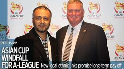 Asian Cup windfall for A-League