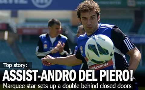 It's Assist-andro Del Piero In Friendly!