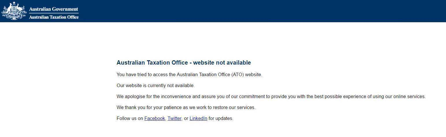 ATO battles another online outage