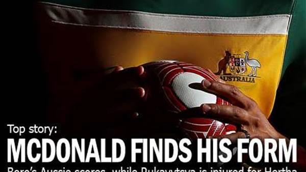 McDonald Scores Again For Boro