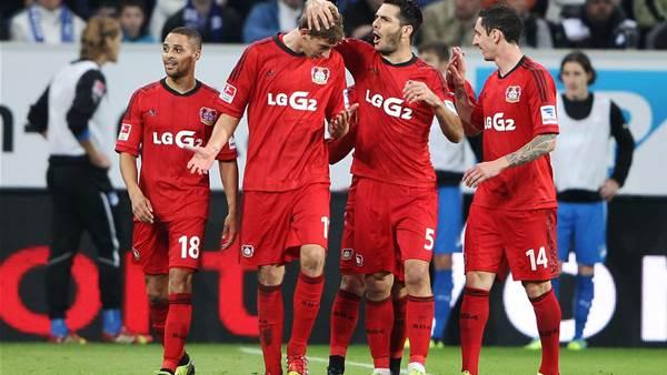 Bayer Leverkusen move top of Bundesliga