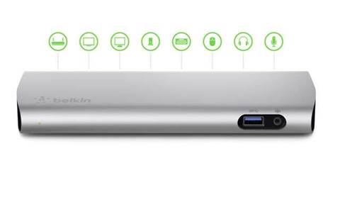 This Belkin docking station turns your laptop into a PC