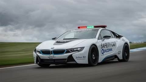 BMW and Qualcomm unveil wirelessly charging i8 Safety Car