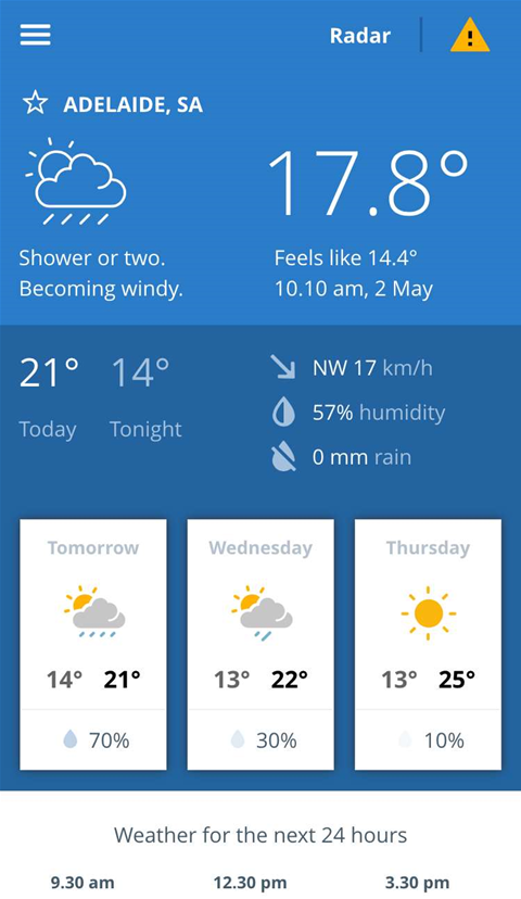 BoM unveils first-ever weather app