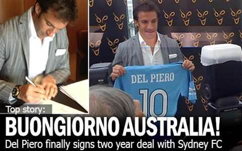 Buongiorno Oz! Del Piero Signs - Official