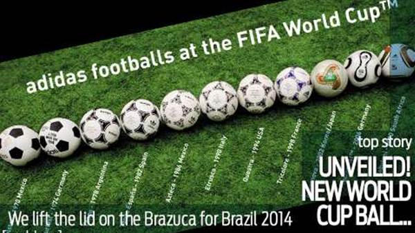 The new adidas brazuca World Cup ball