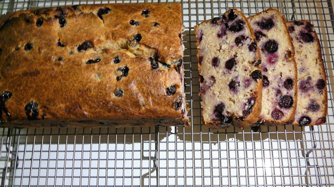 RECIPE: Blueberry, coconut, lemon and ginger loaf