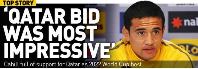 Cahill Supports Qatar World Cup Decision