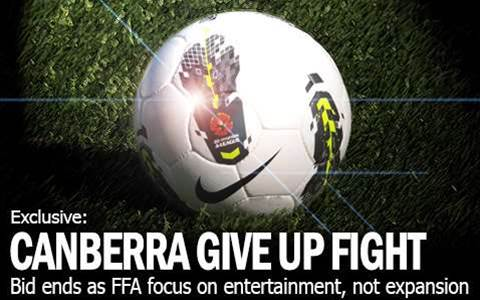 Canberra Give In As FFA Pull Up the Ladder