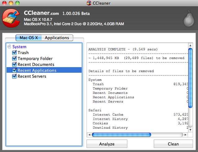 New beta version of CCleaner for Mac is limited but shows signs of promise