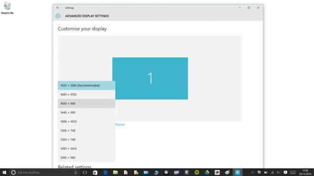 How to: Change screen resolution in Windows 10